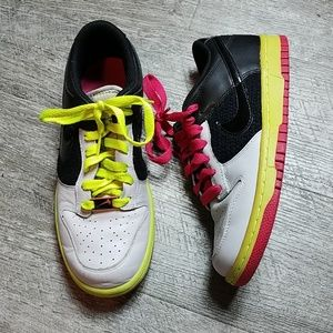Nike Dunk Low Grey Black Berry Volt Woman's 7.5